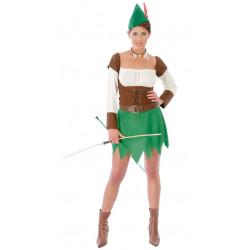 Disfraz de arquera adulta. Disfraz de Robin Hood para mujer