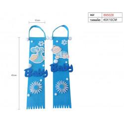 Colgante Baby Azul. Colgante decoración para bautizo y baby shower
