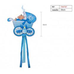 Colgante 'Mi Bautizo' Azul. Decoración de Bautizo y baby shower