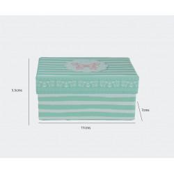 Caja de regalo de mariposas y rayas. 11x7cm