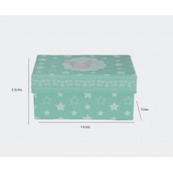 Caja para Regalo de Mariposas con Estrellas. 11x7 cm