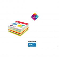 Taco de Notas 400 hojas 10 colores surtidos