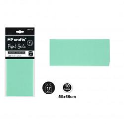 Papel seda verde menta 50x66,10 unidades
