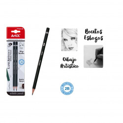Lápiz Artístico para dibujo 2 piezas (2B)