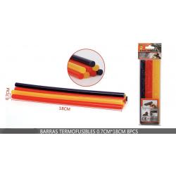 Barra termofusible colores para pistola de pegamento caliente