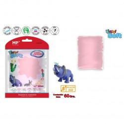 Pasta flexible para modelar rosa,60 gramos