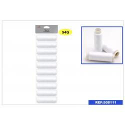 Set de 10 bobinas Hilos blancos para coser