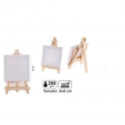 Mini Lienzo con Caballete 8x8 cm
