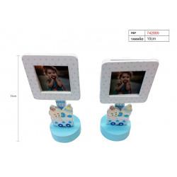 Pinza Porta Retratos Carrito para bautizo y baby shower
