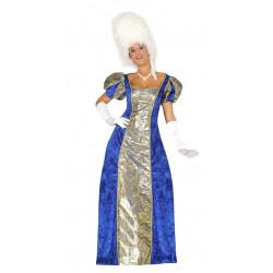 Disfraz de marquesa adulta. Vestido azul de condesa