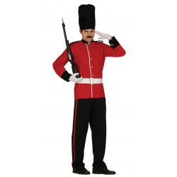 Disfraz de soldado inglés adulto. Uniforme de guardián de Gales para hombre