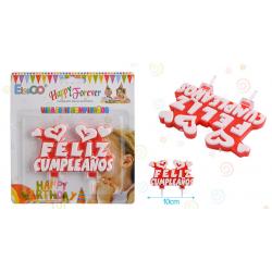 Vela Feliz Cumpleaños Corazones