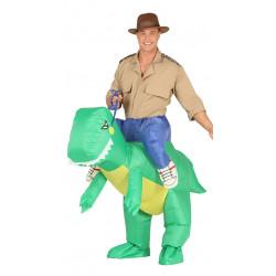 Disfraz de dinosaurio hinchable para adulto