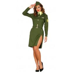 Disfraz uniforme de soldado militar para mujer