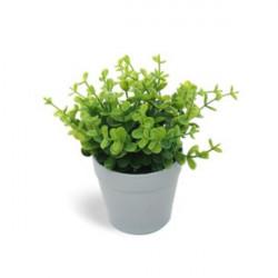 Planta artificial tiesto de plástico 13 cm. Decoración de baño