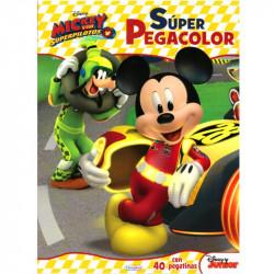 Super pegacolor Mickey y los Superpilotos - Libro para colorear infantil