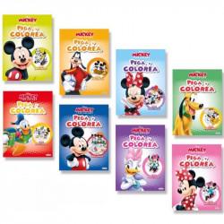 Libro Pega y Colorea Mickey y sus amigos - Libro infantil para colorear
