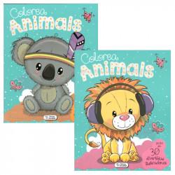 Libro Colorea Animals Kids - Libro para colorear infantil