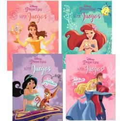 Princesas Disney Super Juegos + Pegatinas - Libros para colorear