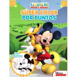 Libro Super Color por Puntos Mickey Mouse - Libro para colorear infantil