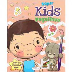 Libro Colorea Super Kids con pegatinas - Libro para colorear infantil