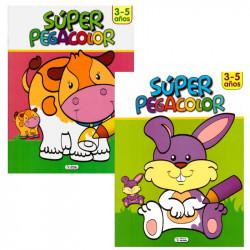 Super Pegacolor 3 - 5 años - Libro para colorear infantil