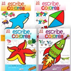 Escribe y colorea 3-5 años - Libro de actividades infantil