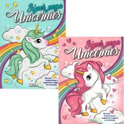 Libro Super Pega Unicornios + Pegatinas - Libro para colorear infantil