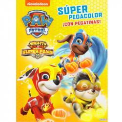 Libro Super Pegacolor + Pegatinas Patrulla Canina
