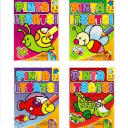 Pinta Itsatsi 3 - 5 Urte - Libro para colorear + pegatinas Euskera