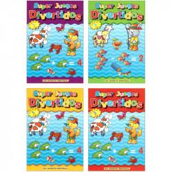 Libro Super Juegos Divertidos para Colorear Infantil