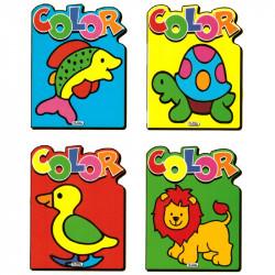 Pinta animales block para colorear infantil