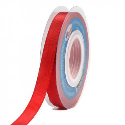 Cinta de Raso 7mm Rojo - Cinta satín para lazos y manualidades