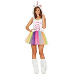 Disfraz de unicornio adulta. Vestido de unicornio para mujer