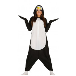 Disfraz pijama de pingüino para adulto
