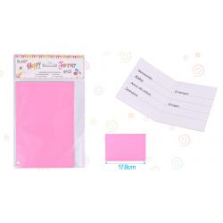 Tarjeta Invitacion Rosa
