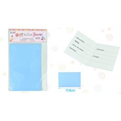 Tarjeta Invitacion Azul
