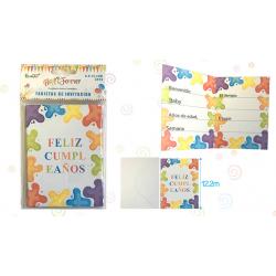 Tarjetas Invitacion 'Feliz Cumpleaños'