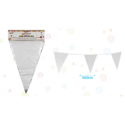 Banderines Plastico Blanco
