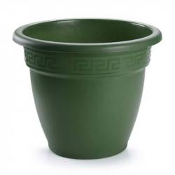 Tiesto 25 cm verde de plástico - Maceta para jardín