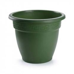 Tiesto 22 cm verde de plástico - Maceta para jardín