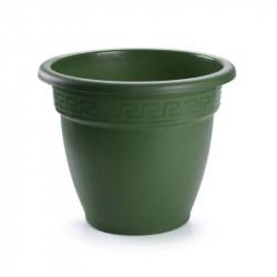 Tiesto 18 cm verde de plástico - Maceta para jardín