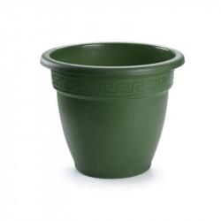 Tiesto 16 cm verde de plástico - Maceta para jardín