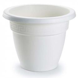 Tiesto 25 cm blanco de plástico - Maceta para jardín