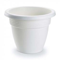 Tiesto 22 cm blanco de plástico - Maceta para jardín