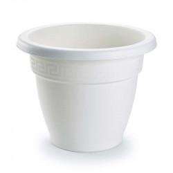 Tiesto 20 cm blanco de plástico - Maceta para jardín