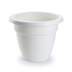 Tiesto 18 cm blanco de plástico - Maceta para jardín