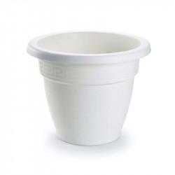 Tiesto 16 cm blanco de plástico - Maceta para jardín