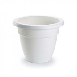 Tiesto 14 cm blanco de plástico - Maceta para jardín