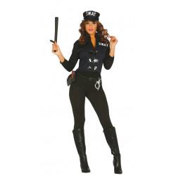 Disfraz de SWAT adulta. Disfraz de fuerzas especiales para mujer